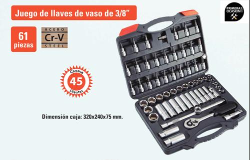 """Imagen de Juego de llaves de vaso 3/8"""" HR ALYCO 61 piezas 192399"""