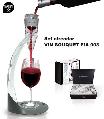 Imagen de Set aireador de vino con peana VIN BOUQUET FIA 003