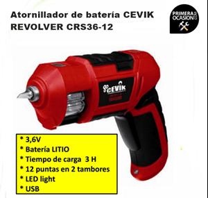 Imagen de Atornillador bateria CEVIK REVOLVER CRS36-12