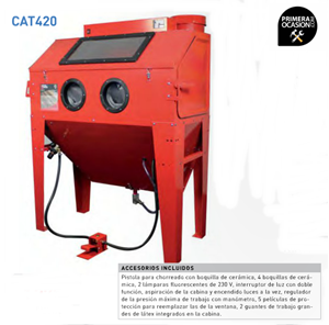 Imagen de Cabina chorreadora de arena METALWORKS CAT420
