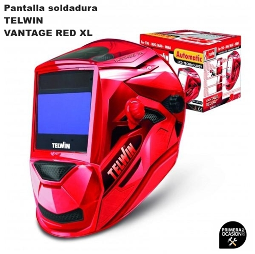 Imagen de Pantalla soldadura TELWIN VANTAGE RED XL