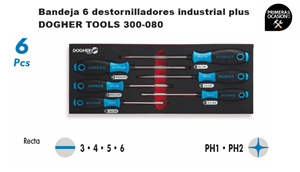 Imagen de Bandeja 6 destornilladores industrial plus DOGHER TOOLS 300-080