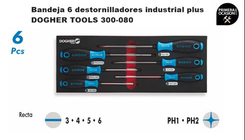 Imagen de Bandeja 6 destornilladores industrial plus DOGHER TOOLS 300-080