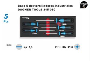 Imagen de Bandeja 5 destornilladores industriales DOGHER TOOLS 315-080