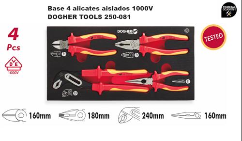 Imagen de Bandeja 4 alicates aislados 1000V DOGHER TOOLS 250-081