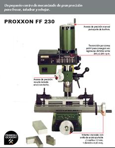 Imagen de Fresadora precision PROXXON FF 230