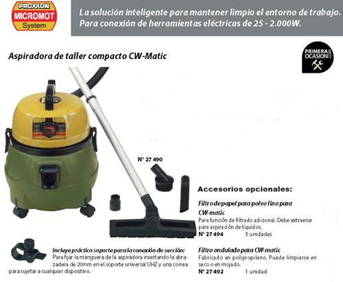 Imagen de Aspiradora de taller compacta PROXXON CW-Matic