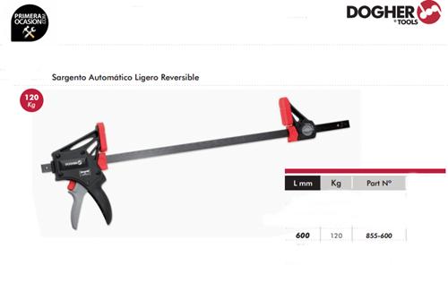 Imagen de Sargento automatico ligero 600 mm DOGHER TOOLS 855-600