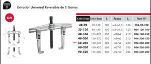 Imagen de Extractor reversible universal 2 garras DOGHER TOOLS 904-250-200