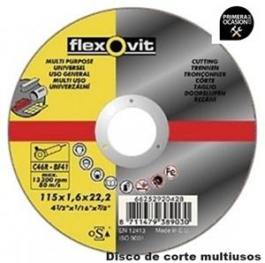 Imagen de 25 Discos corte multiusos FLEXOVIT 115x1,6