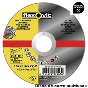 Imagen de 25 Discos corte multiusos FLEXOVIT 125x1,0