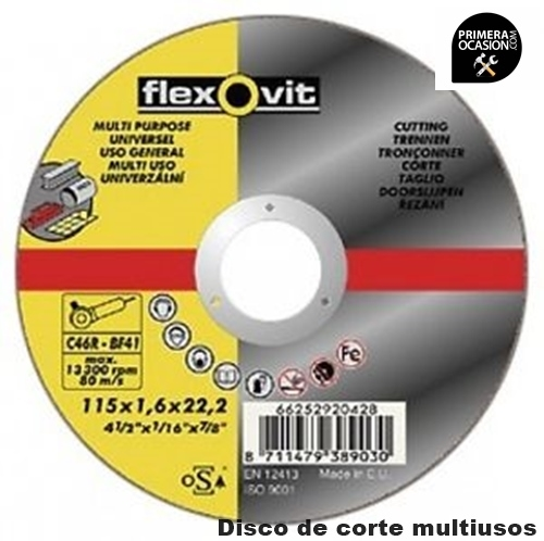 Imagen de 25 Discos corte multiusos FLEXOVIT 125x1,6
