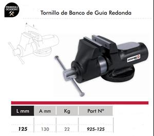 Imagen de Tornillo de banco guia redonda DOGHER TOOLS 125 mm