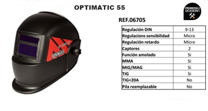 Imagen de Pantalla soldadura electronica SOLTER OPTIMATIC 55