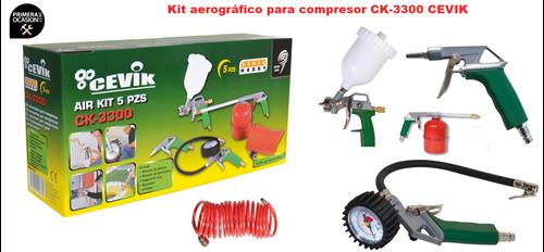Imagen de KIT aerografico compresor CEVIK CA-CK3300