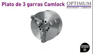 Imagen de Plato de 3 garras Camlock OPTIMUM Ø 160 mm