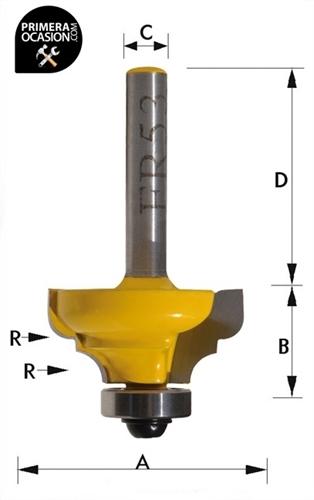 Imagen de Fresa individual metal duro KIVEC FR53
