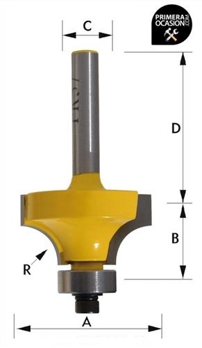 Imagen de Fresa individual metal duro KIVEC FR38