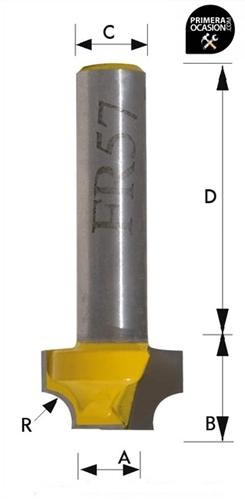 Imagen de Fresa individual metal duro KIVEC FR57