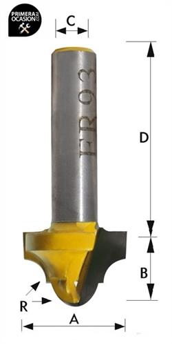 Imagen de Fresa individual metal duro KIVEC FR93