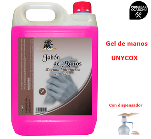 Imagen de Jabon de manos UNYCOX 5 kilos con dosificador