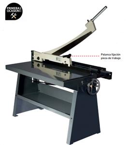 Imagen de Cizalla guillotina de mesa FORTEX FTX-1x1.000-CGB