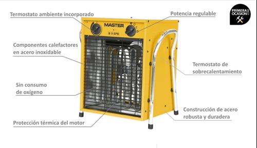 Imagen de Calentador electrico de aire MASTER B9