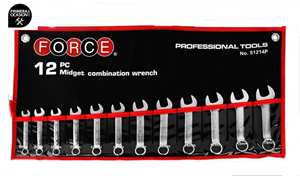 Imagen de Juego 12 llaves combinadas cortas FORCE 51214P