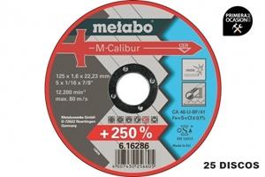 Imagen de 25 Discos corte M-Calibur METABO 125x1,6