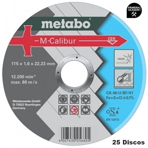 Imagen de 25 Discos corte M-Calibur METABO 115x1,6