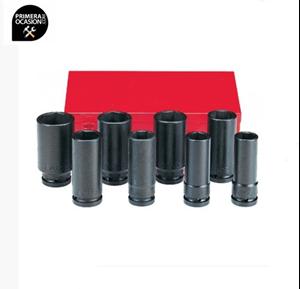 """Imagen de Juego 8 vasos impacto largos FORCE 3/4"""" 6081D"""
