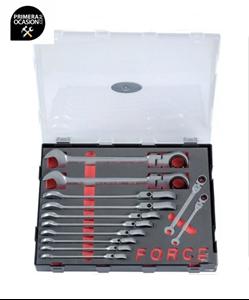 Imagen de Juego 12 llaves combinadas carraca articuladas SAE FORCE K51225