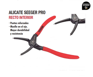 Imagen de Alicate seeger recto interior 155 mm DOGHER TOOLS 222x-155