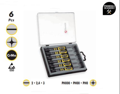 Imagen de Juego 6 destornilladores de precision ESD DOGHER TOOLS 390-001