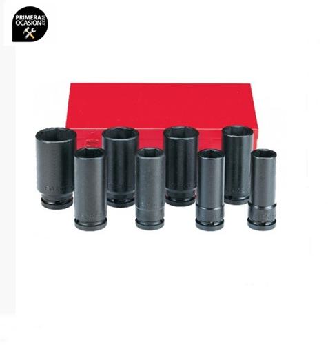 """Imagen de Juego 8 vasos impacto largos 3/4"""" SAE FORCE 6081DS"""