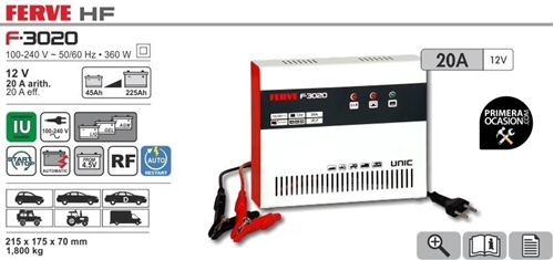 Imagen de Cargador bateria automático FERVE F-3020