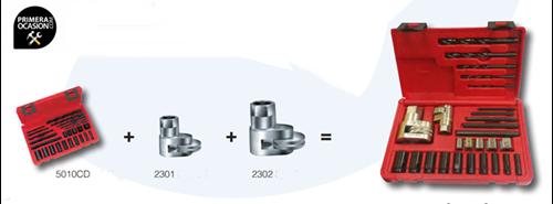 Imagen de Juego extractores esparragos y tornillos rotos FORZA 9001