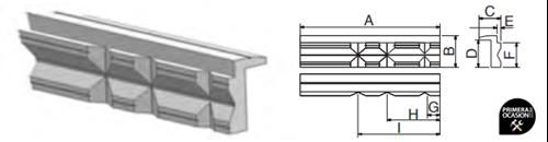 Imagen de Juego mordazas aluminio con V FORZA 8812552