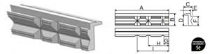 Imagen de Juego mordazas aluminio con V FORZA 8815052