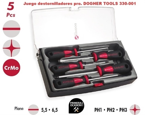 Imagen de Juego 5 destornilladores profesionales DOGHER TOOLS 330-001