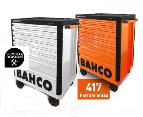Imagen de Carro antivuelco 8 cajones+417 herramientas BAHCO