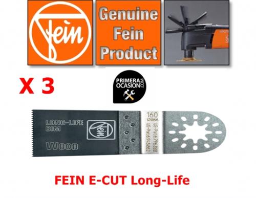 Imagen de Fein Multimaster  3 hojas sierra E-Cut Long-Life 35 mm