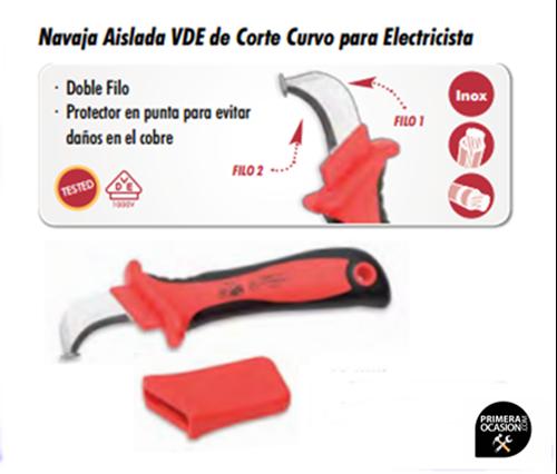Imagen de Navaja aislada VDE de corte curvo para electricista DOGHER TOOLS