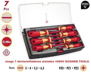 Imagen de Juego 7 destornilladores aislados 1000V DOGHER TOOLS 360-002