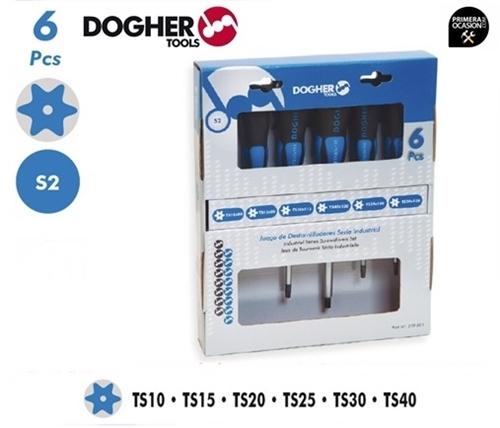 Imagen de Juego 6 destornilladores torx industriales DOGHER TOOLS 319-001