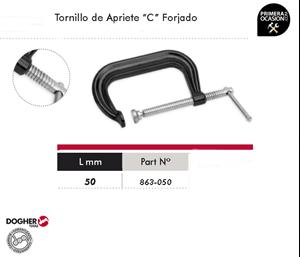 "Imagen de Tornillo de apriete ""C"" forjado 50 mm DOGHER TOOLS 863-050"