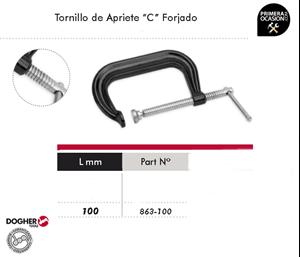 "Imagen de Tornillo de apriete ""C"" forjado 100 mm DOGHER TOOLS 863-100"