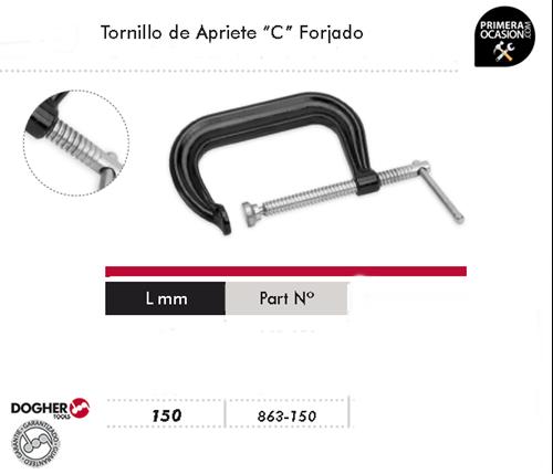 "Imagen de Tornillo de apriete ""C"" forjado 150 mm DOGHER TOOLS 863-150"