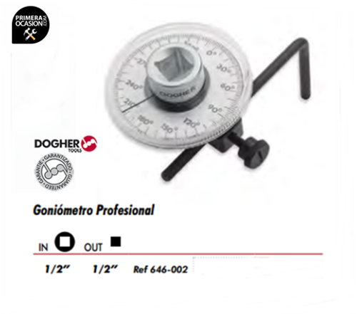 Imagen de Goniometro profesional DOGHER TOOLS 646-002
