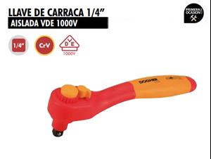 """Imagen de Llave de carraca 1/4"""" aislada DOGHER TOOLS 510-009"""